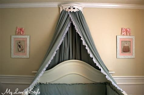 how to make a bed canopy diy bed crown and crib canopy tutorial my love of style my love of style