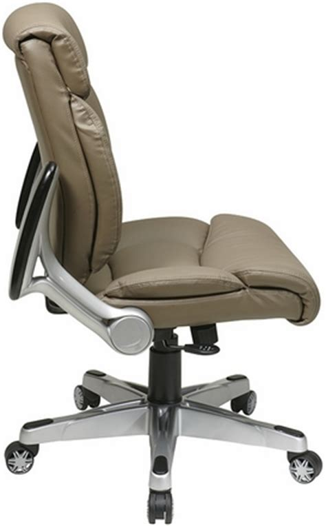 office faux leather chair with flip up arms fl89675
