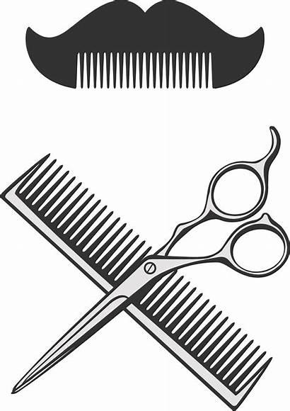 Scissors Comb Hair Barber Clipart Dryer Vector