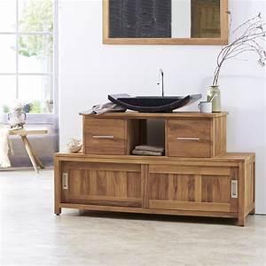 meuble en teck neela meuble rangement salle de bainsur With meuble de salle de bain en teck solde