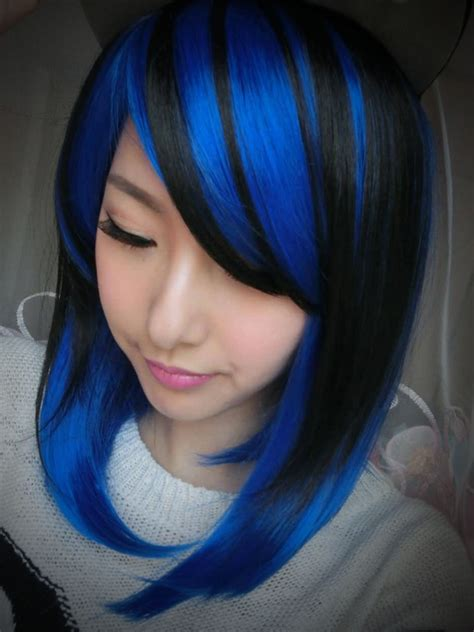 With Black Hair by Guide On How To Go About Best Blue Black Hair Color Hair