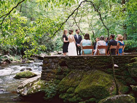 intimate wedding   great smoky mountains national