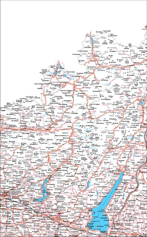 cartina italia mappa  nord italia