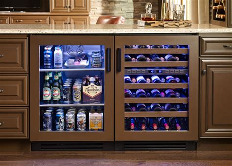 home bar cabinet with refrigerator chattanooga man cave with true residential 24 quot glass door