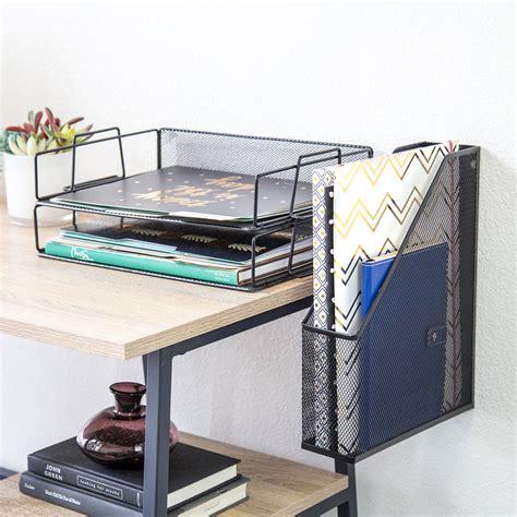 desk organizers u brands hanging file desk organizer wire