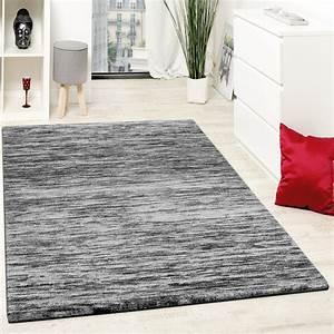Wohnzimmer Teppich Grau : teppiche modern wohnzimmer teppich spezial melierung grau schwarz meliert teppiche kurzflor teppiche ~ Indierocktalk.com Haus und Dekorationen