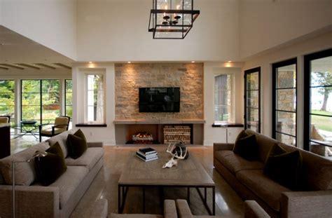 divine living room design ideas  exposed stone wall