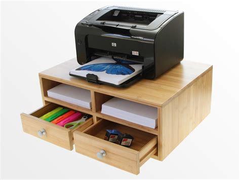 desktop printer stand bamboo office furniture office