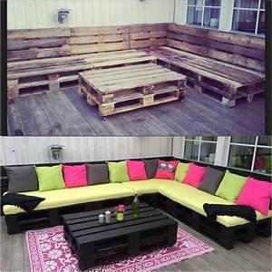 Salon De Jardin Palettes : salon de jardin en palette 21 id es d couvrir ~ Farleysfitness.com Idées de Décoration