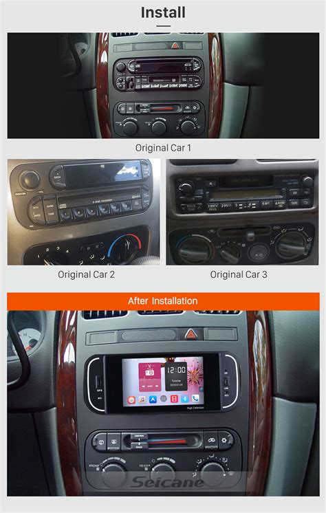 security system 1997 dodge intrepid navigation system android 6 0 gps navigation radio for 2002 2006 chrysler pt cruiser with bluetooth usb music obd2
