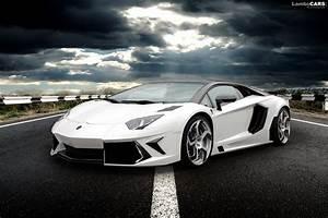 Lamborghini Aventador White - wallpaper.