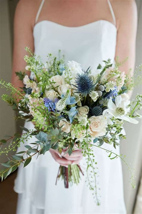 wedding flowers blue   cute wedding ideas