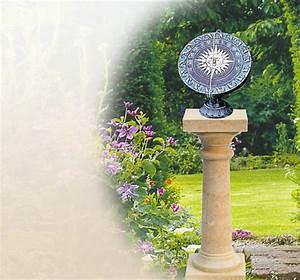horiziontale natursteinsonnenuhr metallsonnenuhr With französischer balkon mit garten sonnenuhr