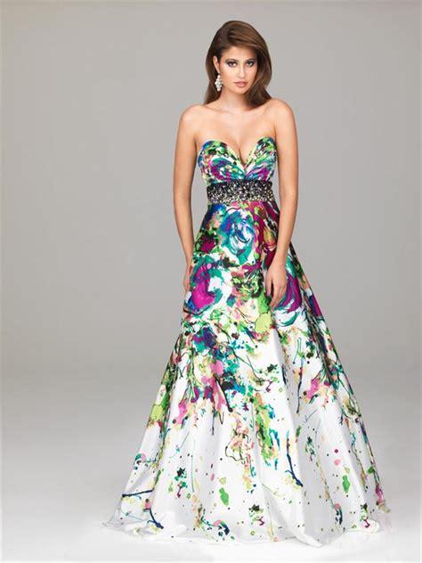patterned a line skirt amazing paint splatter print prom dresses 2013 pds