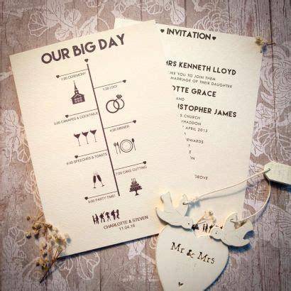 timeline day invitation wedding invitations wedding