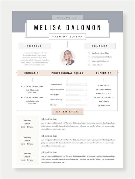 Cv Ideas by Creative And Professional Resume Template In Microsoft
