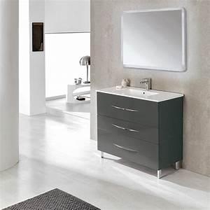meuble salle de bain 100 cm 3 tiroirs plan vasque With plan vasque salle de bain 100 cm