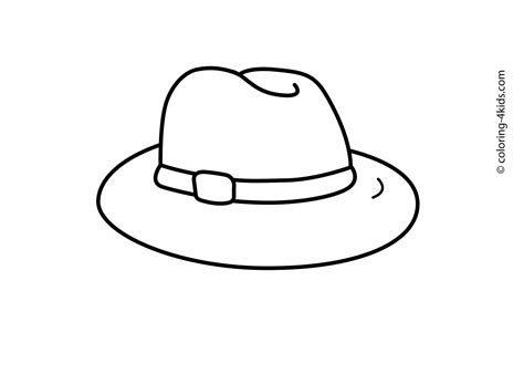 hat coloring pages  kids printable drawing template