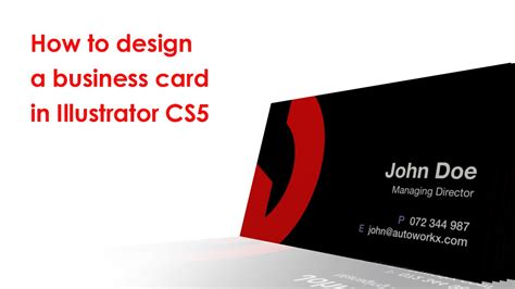 how to design a business card how to design a business card in illustrator