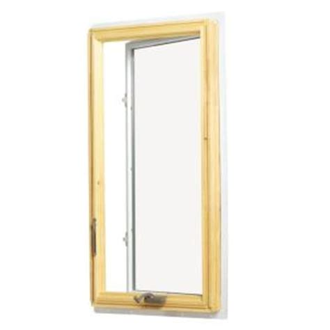 andersen       series casement wood window  white exterior  hand