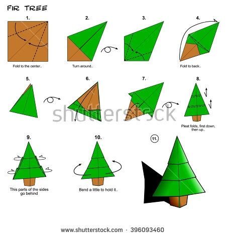 origami christmas tree 3d step by step photo album best