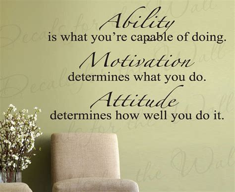 inspirational quotes wall decor ability what youre capable doing motivation attitude