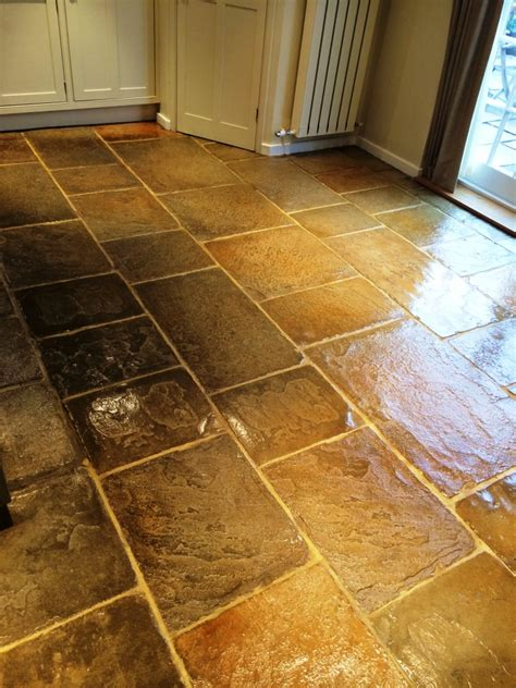Revitalising A Slate And Flag Stone Floor In Cookham