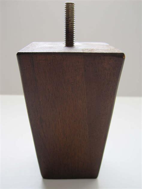 Sofa Legs Wood by Buy Sleek Square Wood Leg 4 Quot Walnut Alq4026w At