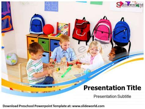 preschool powerpoint template  world