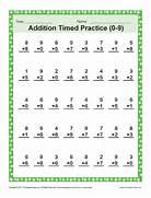 Addition Timed 0 9 Math Worksheets Addition Worksheets Dynamically Created Addition Worksheets Timed Math Addition Math Sheets Drill Sheets Addition Math Drills Addition Worksheets