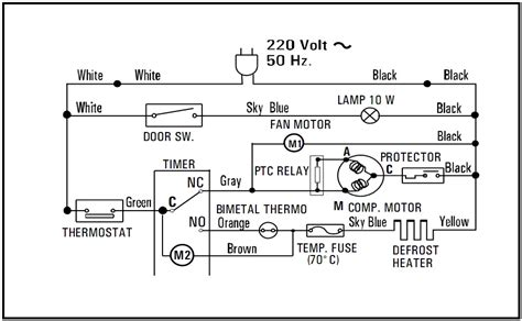 tips trik reparasi skematik diagram lemari es 2 pintu