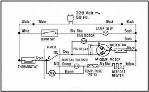 Wiring Diagram Kulkas Sharp 1 Pintu