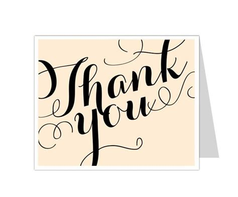 thank you card template in word 12 best thank you card templates images on