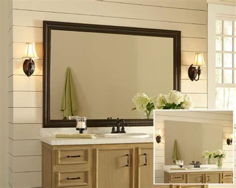 Cute Framed Bathroom Mirror