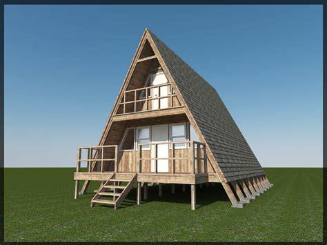 aframe homes 3d model 24 a frame cabin