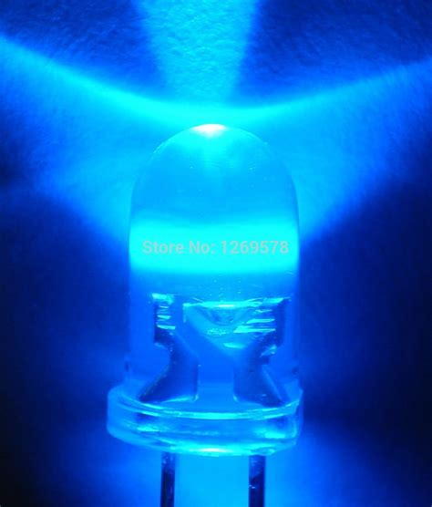 200pcs lots 5mm led blue light bulbs 5mm blue colour led