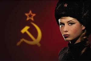 24x35inch The Flag of the Soviet Union,the Girl Style