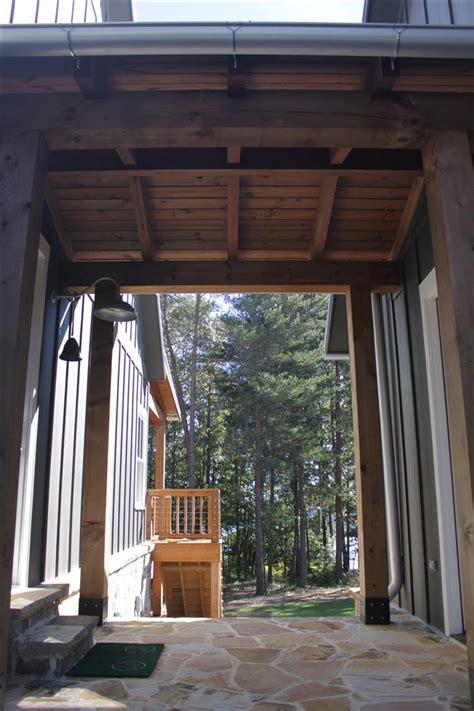 open living floor plan lake house design  walkout basement