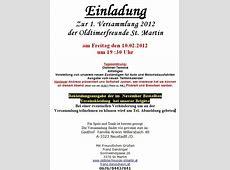 Einladung ErsteVersammlung 2012 der OFSt Martin