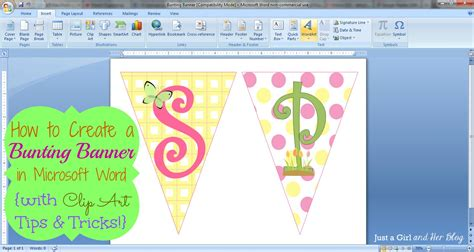 How To Make A Bunting Banner In Word {with Clip Art Tips And Tricks}