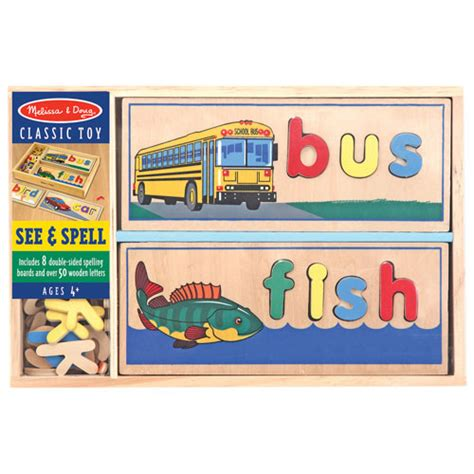 melissa doug see spell learning toy puzzles best