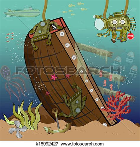 sunken ships clipart clipground