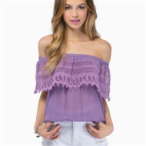 Honey Punch Tops | Purple Lace Crochet Top | Poshmark