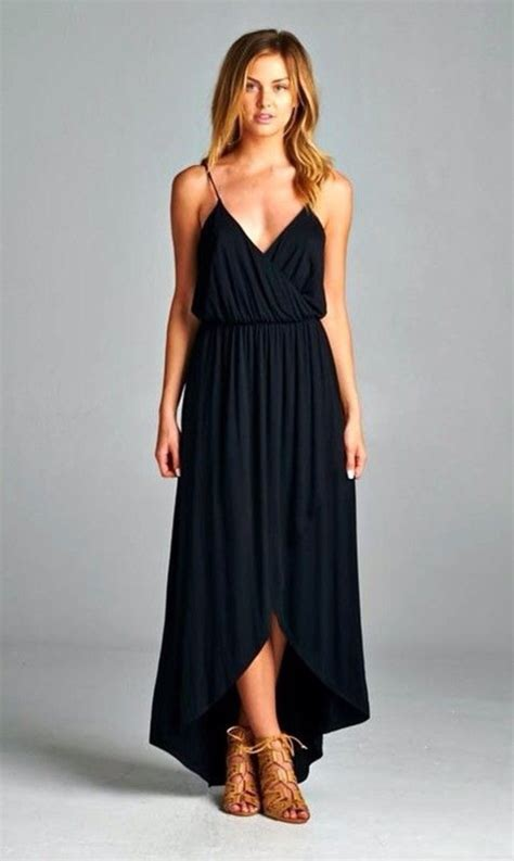 Dress girl girly casual dress casual black dres long black dress fashion black maxi dress ...