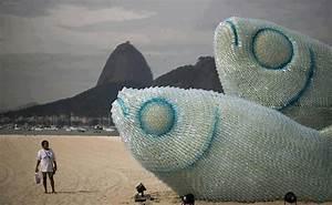 Plastic Bottle Beach Art