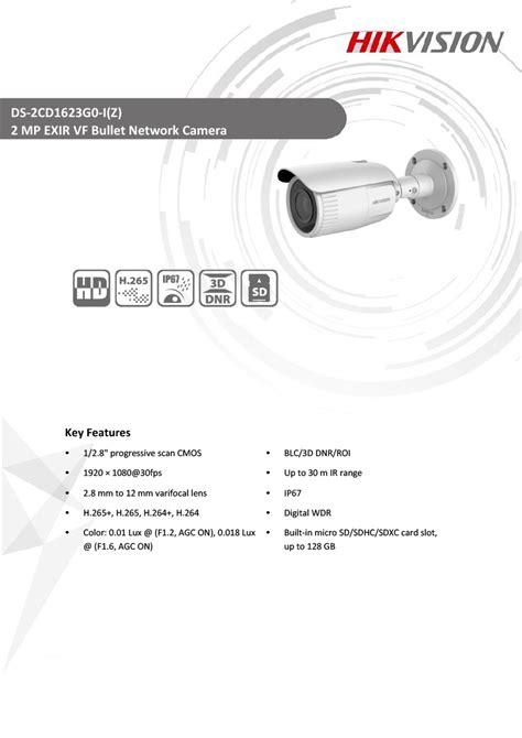 Hikvision DS-2CD1623G0-I(Z) 2MP EXIR VF Bullet Network Camera