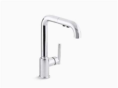 Purist Single-handle Pull-out Spray Kitchen Sink Lowes Kitchen Design Farmhouse Kitchens Designs Bakery Floor Tiles Traditional Custom Cabinets London Templates