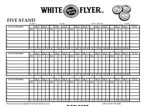 arpc5stand 5 stand score sheet