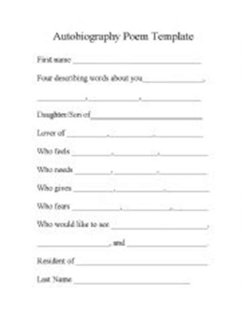 images  printable autobiography template bio