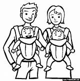 Coloring Babies Twins Printable Thecolor sketch template